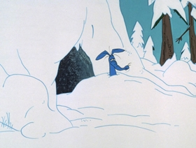 Screenshots from the 1970 DePatie Freleng cartoon The Froze Nose Knows