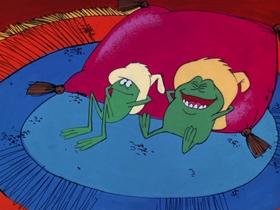Screenshots from the 1970 DePatie Freleng cartoon A Dopey Hacienda