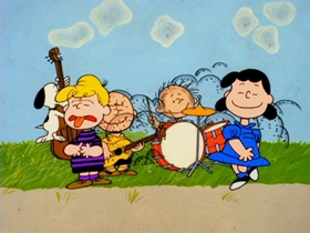 Screenshots from the 1971 Bill Melendez Productions cartoon Play It Again, Charlie Brown
