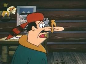 Screenshots from the 1971 Walter Lantz cartoon How to Trap a Woodpecker