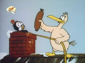Screenshots from the 1971 Walter Lantz cartoon Airlift A La Carte