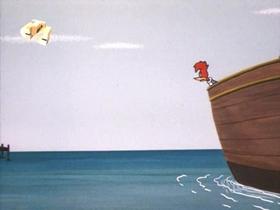 Screenshots from the 1971 Walter Lantz cartoon Shanghai Woody