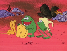 Screenshots from the 1971 DePatie Freleng cartoon Snake in the Gracias