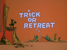 Screenshots from the 1971 DePatie Freleng cartoon Trick or Retreat