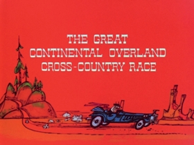 Screenshots from the 1971 DePatie Freleng cartoon The Great Continental Overland Cross-Country Race