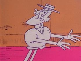 Screenshots from the 1971 DePatie Freleng cartoon A Fink in the Rink