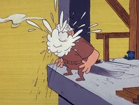 Screenshots from the 1971 DePatie Freleng cartoon Pink Blue Plate