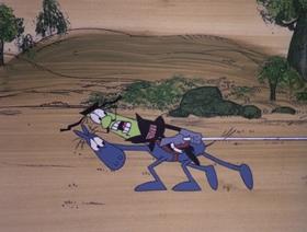 Screenshots from the 1971 DePatie Freleng cartoon Cattle Battle