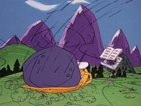 Screenshots from the 1971 DePatie Freleng cartoon Pink Tuba-Dore