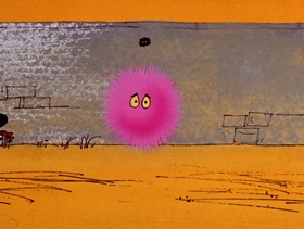 Screenshots from the 1971 DePatie Freleng cartoon The Pink Flea