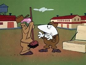 Screenshots from the 1971 DePatie Freleng cartoon Pink-In