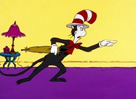 Screenshots from the 1971 DePatie Freleng cartoon The Cat in the Hat