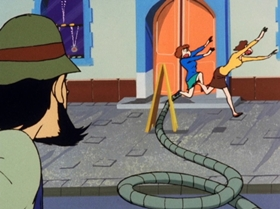 Screenshots from the 1972 TMS Entertainment cartoon Operation Jewel Snatch