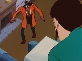 Screenshots from the 1972 TMS Entertainment cartoon Catch the Phony Lupin!