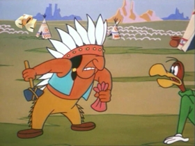Screenshots from the 1972 Walter Lantz cartoon Indian Corn