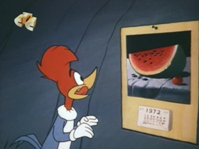 Screenshots from the 1972 Walter Lantz cartoon For the Love of Pizza
