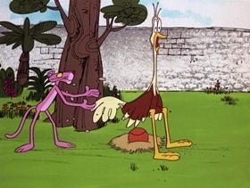 Screenshots from the 1972 DePatie Freleng cartoon Pink 8 Ball