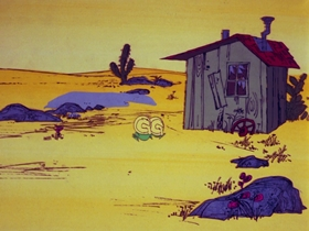 Screenshots from the 1972 DePatie Freleng cartoon Flight to the Finish