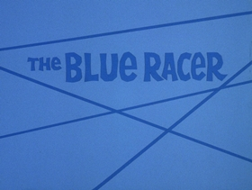 Screenshots from the 1972 DePatie Freleng cartoon Blue Racer Blues