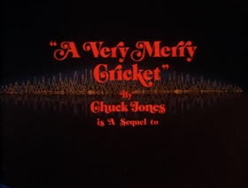 Screenshots from the 1973 Chuck Jones Enterprises cartoon A Very Merry Cricket