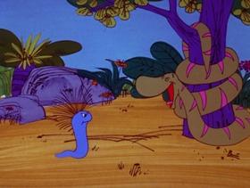 Screenshots from the 1973 DePatie Freleng cartoon The Boa Friend