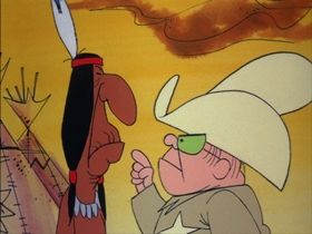 Screenshots from the 1973 DePatie Freleng cartoon Apache on the County Seat