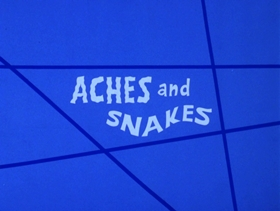 Screenshots from the 1973 DePatie Freleng cartoon Aches and Snakes