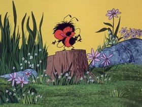 Screenshots from the 1973 DePatie Freleng cartoon Snake Preview
