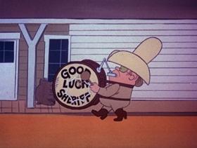 Screenshots from the 1973 DePatie Freleng cartoon A Self-Winding Sidewinder