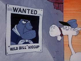 Screenshots from the 1973 DePatie Freleng cartoon Stirrups and Hiccups