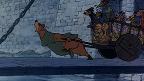 Screenshots from the 1973 Disney cartoon Robin Hood