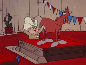 Screenshots from the 1974 DePatie Freleng cartoon Giddy Up Woe
