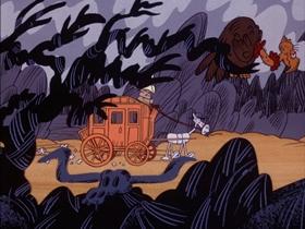 Screenshots from the 1974 DePatie Freleng cartoon Gold Struck