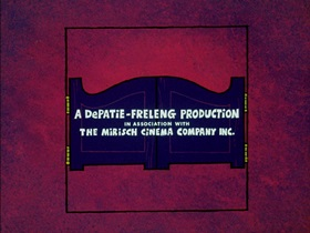 Screenshots from the 1974 DePatie Freleng cartoon The Badge and the Beautiful