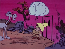Screenshots from the 1974 DePatie Freleng cartoon Strange on the Range