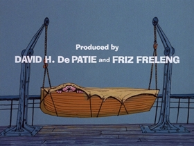 Screenshots from the 1974 DePatie Freleng cartoon Pink Aye