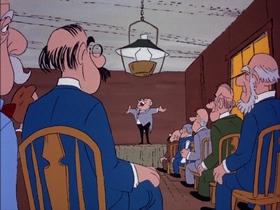 Screenshots from the 1974 DePatie Freleng cartoon Mesa Trouble