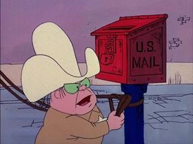 Screenshots from the 1974 DePatie Freleng cartoon Saddle Soap Opera