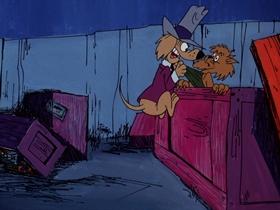 Screenshots from the 1974 DePatie Freleng cartoon The Dogfather
