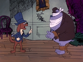 Screenshots from the 1974 DePatie Freleng cartoon Heist and Seek