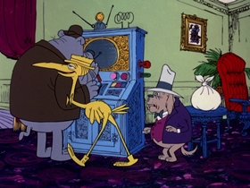 Screenshots from the 1974 DePatie Freleng cartoon Mother Dogfather