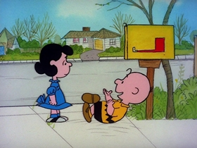 Screenshots from the 1975 Bill Melendez Productions cartoon Be My Valentine, Charlie Brown