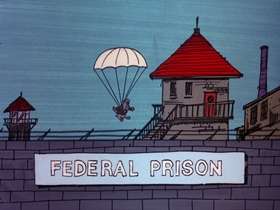 Screenshots from the 1975 DePatie Freleng cartoon Eagle Beagles