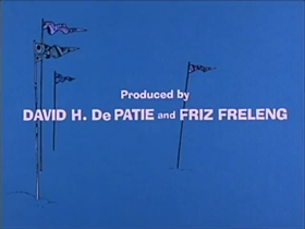 Screenshots from the 1975 DePatie Freleng cartoon Pink Streaker
