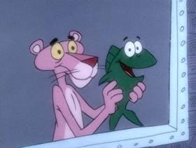 Screenshots from the 1975 DePatie Freleng cartoon Salmon Pink