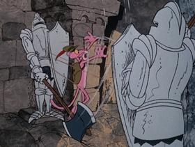 Screenshots from the 1975 DePatie Freleng cartoon Pink Plasma