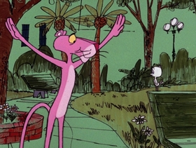Screenshots from the 1975 DePatie Freleng cartoon Bobolink Pink