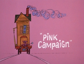 Screenshots from the 1975 DePatie Freleng cartoon Pink Campaign