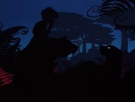 Screenshots from the 1976 Chuck Jones Enterprises cartoon Mowgli