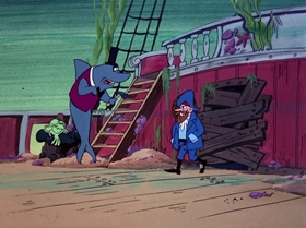 Screenshots from the 1976 DePatie Freleng cartoon Monster Of The Deep